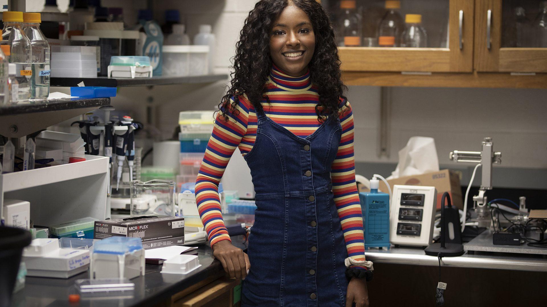 Portrait of Autumn Tucker in the lab.