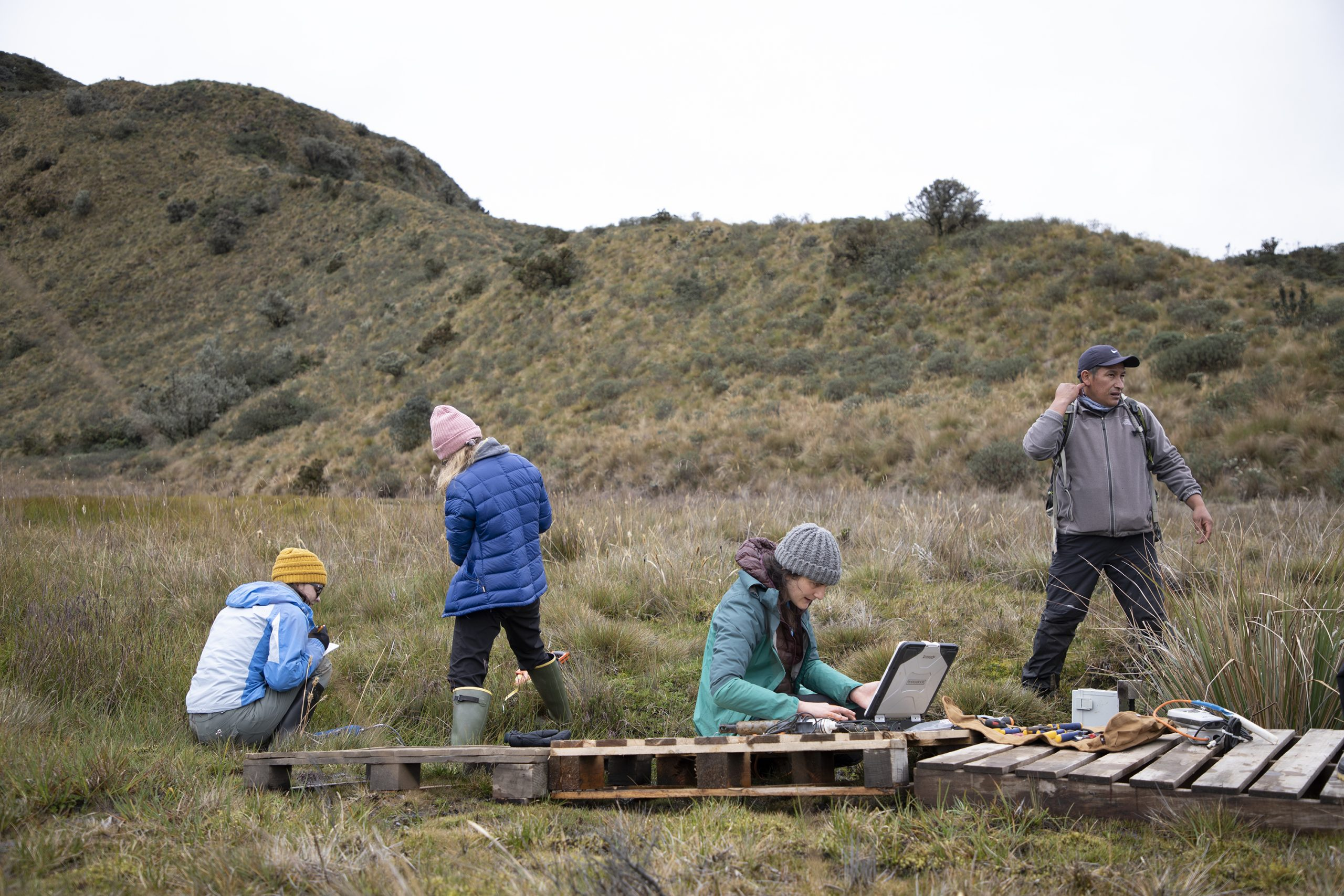 UNC Researchers conduct research in the mountains of Equador.