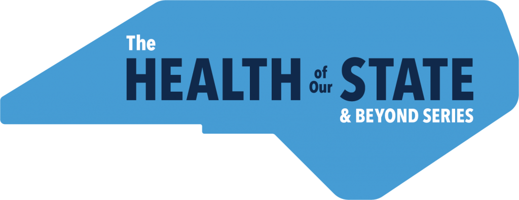 """Logo for """"The Health of Our State and Beyond"""" Series."""
