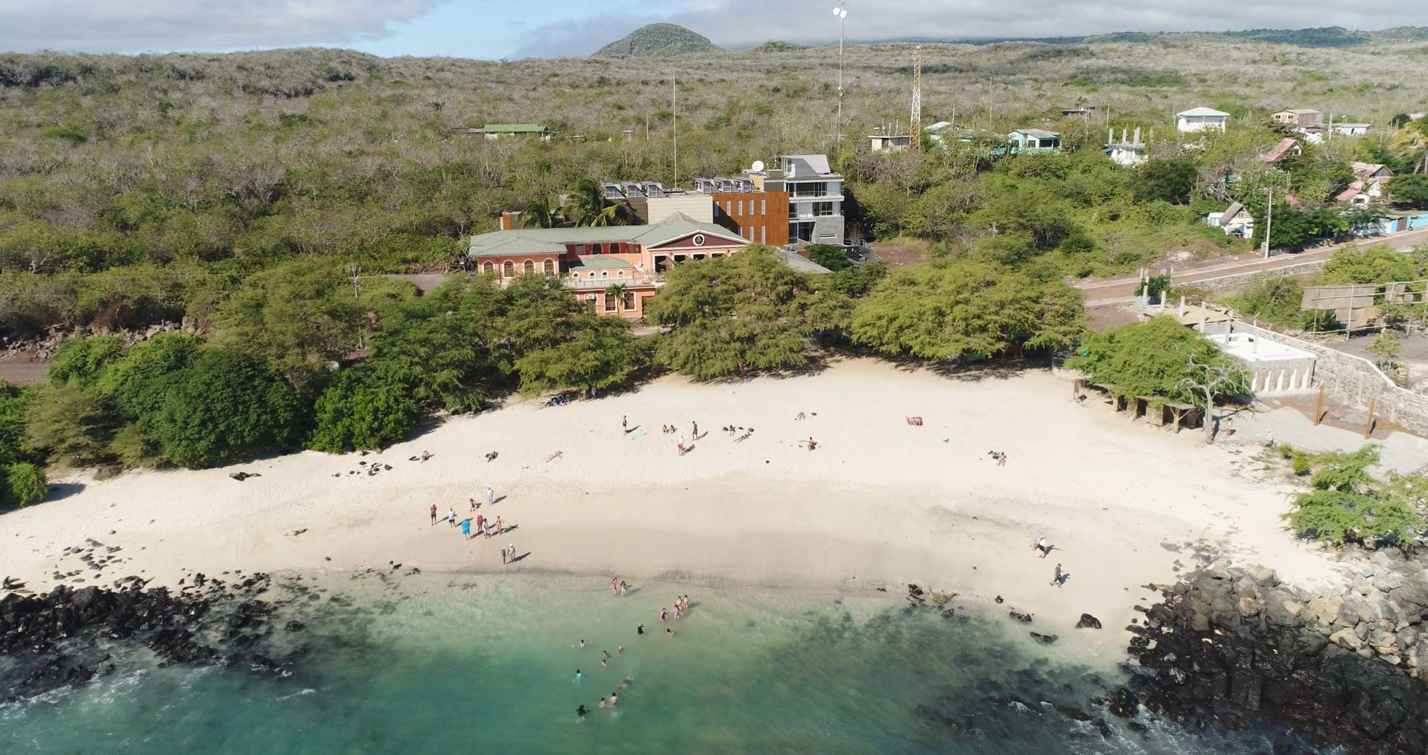 An overview shot of the Galapagos Science Center in the Galapagos Islands.